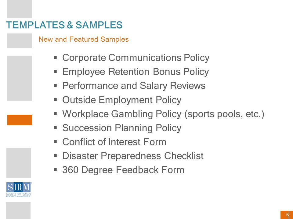 Corporate Communications Policy Employee Retention Bonus Policy