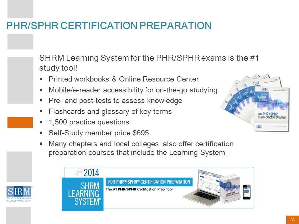 PHR/SPHR CERTIFICATION PREPARATION