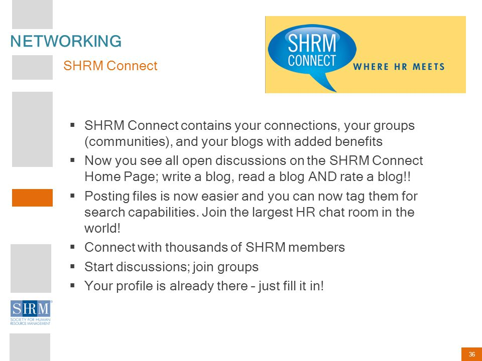 NETWORKING SHRM Connect