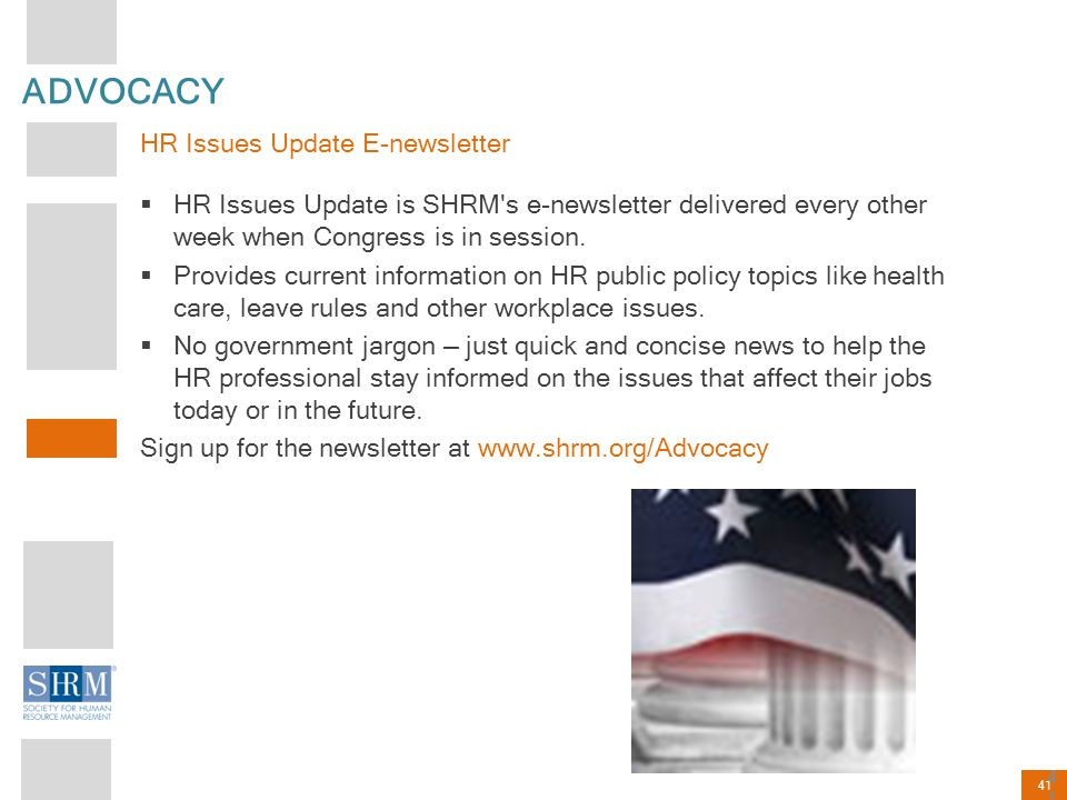 ADVOCACY HR Issues Update E-newsletter
