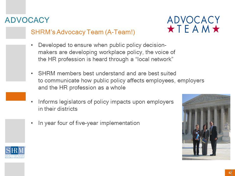 ADVOCACY SHRM's Advocacy Team (A-Team!)