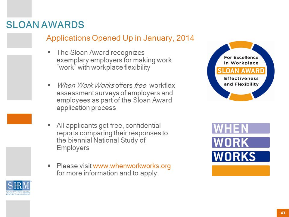 SLOAN AWARDS Applications Opened Up in January, 2014