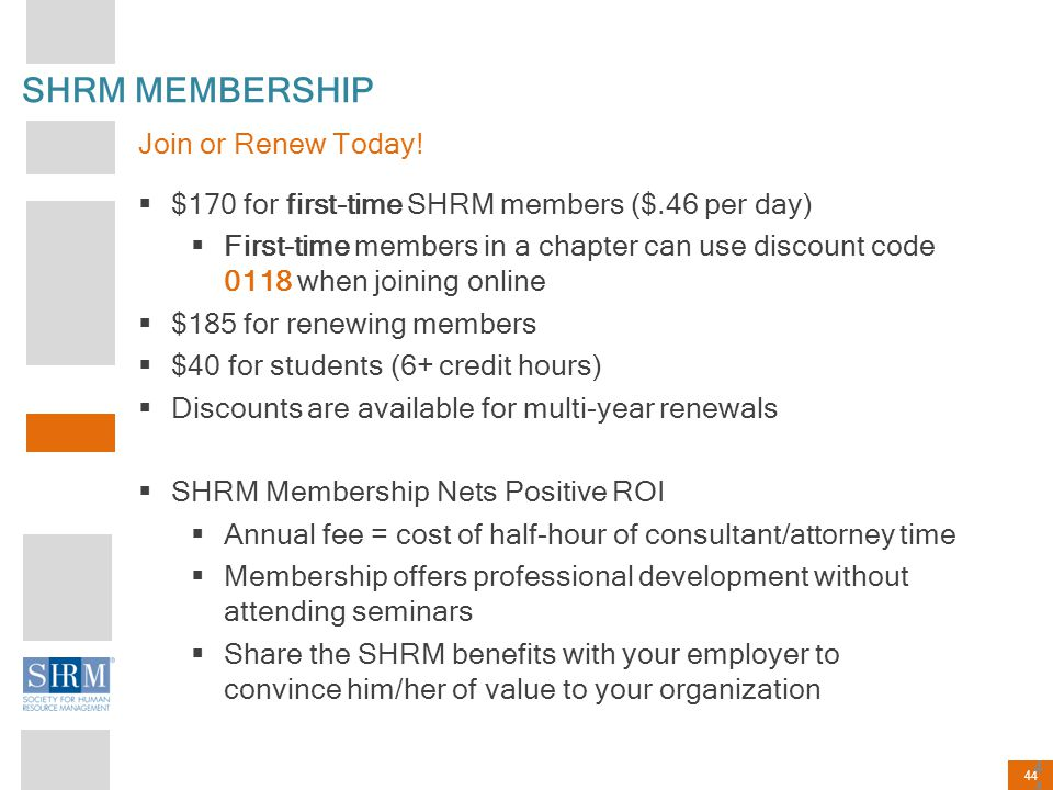 SHRM MEMBERSHIP Join or Renew Today!