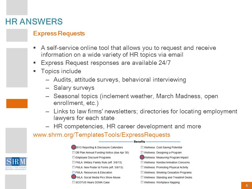 HR ANSWERS Express Requests