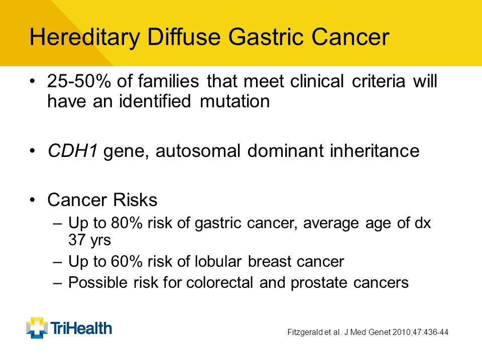 Hereditary Diffuse Gastric Cancer