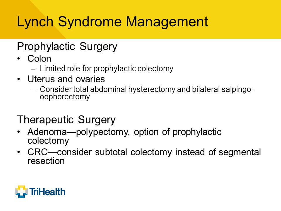 Lynch Syndrome Management