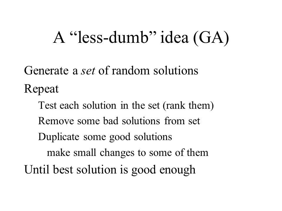 A less-dumb idea (GA)