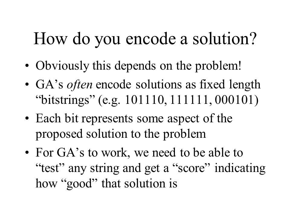 How do you encode a solution