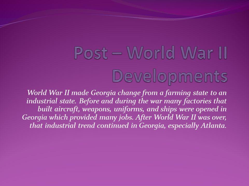 Post – World War II Developments