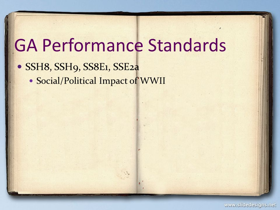 GA Performance Standards