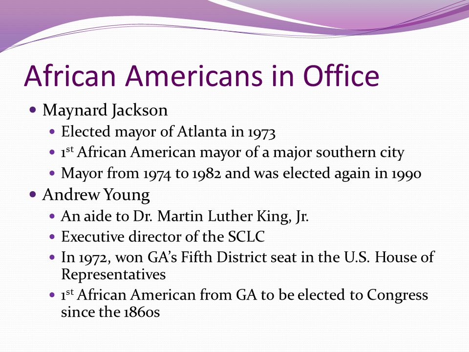 African Americans in Office