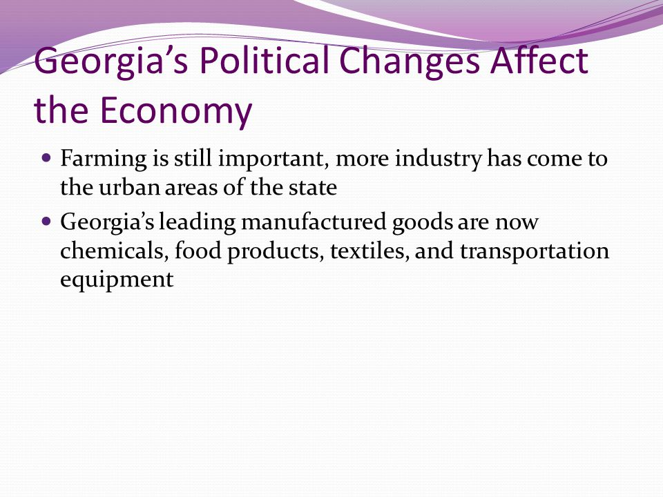 Georgia's Political Changes Affect the Economy