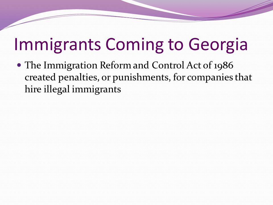 Immigrants Coming to Georgia