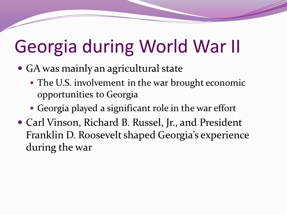 Georgia during World War II
