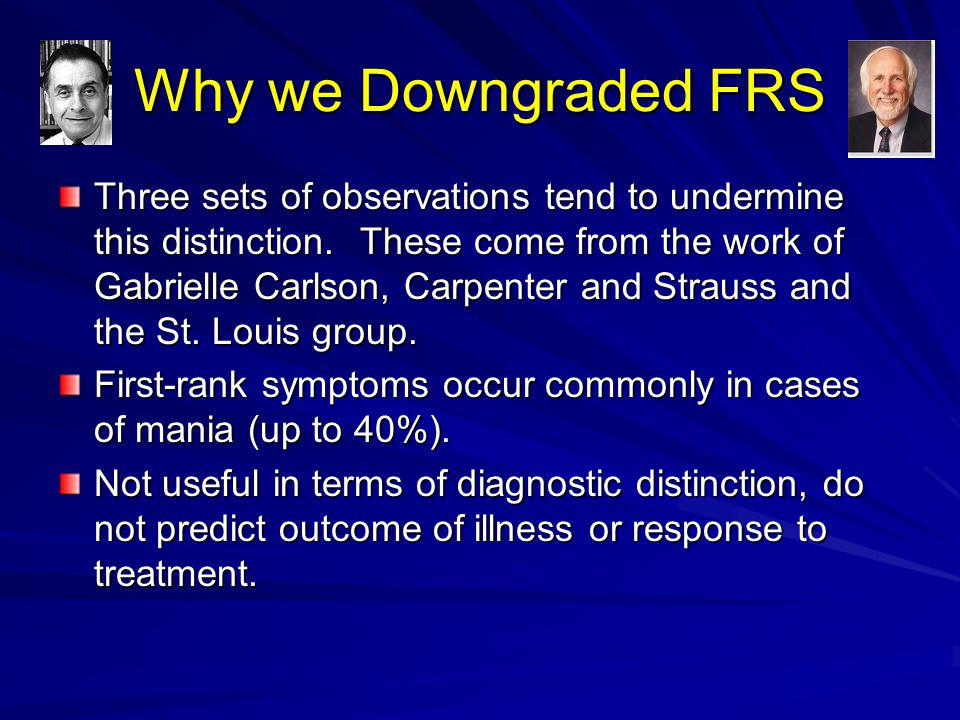 Why we Downgraded FRS