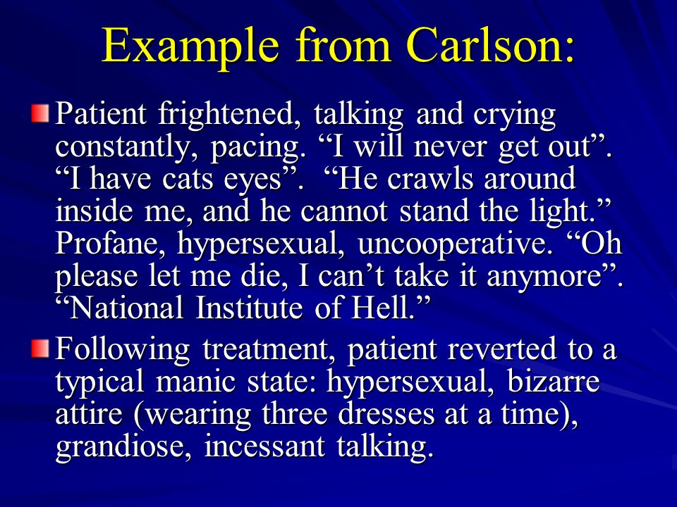 Example from Carlson: