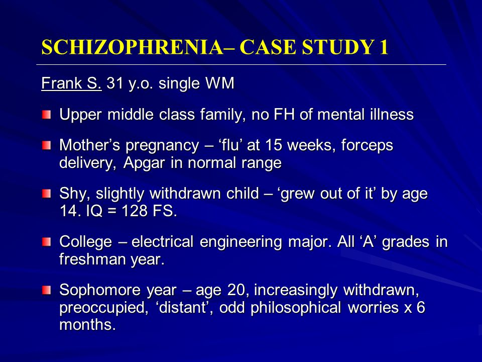 mental health case study template - schizophrenia psychoses a clinical introduction ppt
