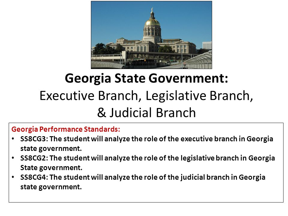 Georgia State Government: Executive Branch, Legislative Branch, & Judicial Branch