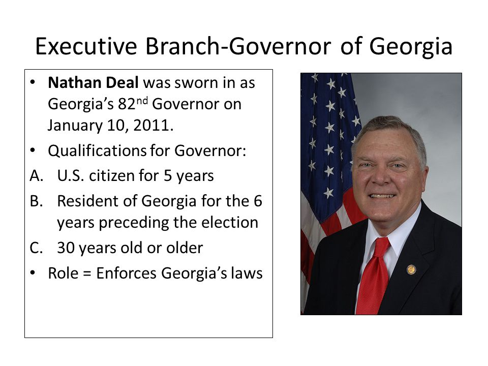 Executive Branch-Governor of Georgia