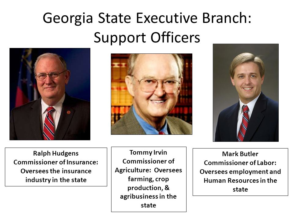 Georgia State Executive Branch: Support Officers