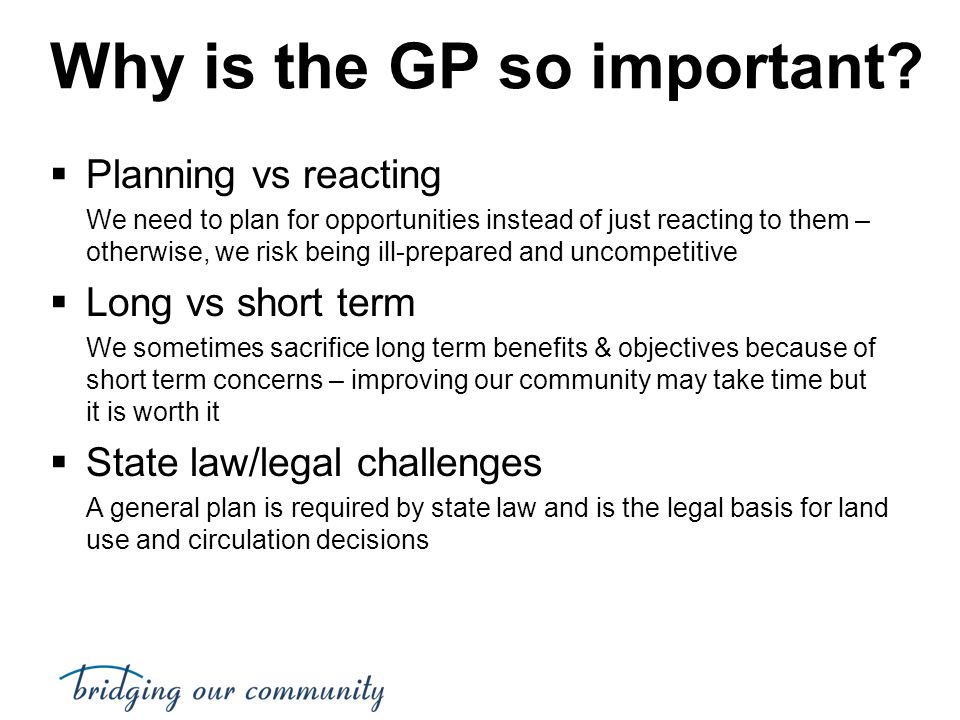 Why is the GP so important