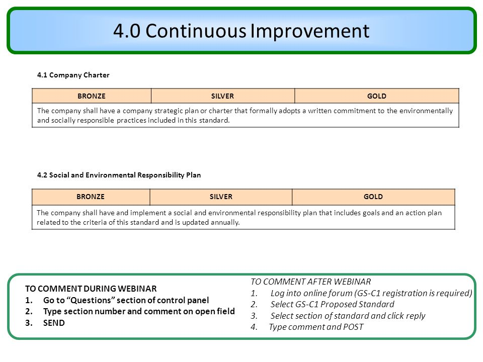 4.0 Continuous Improvement