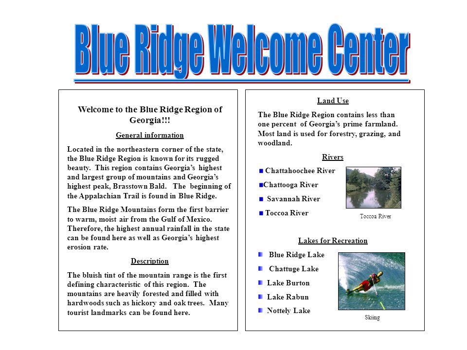 Welcome to the Blue Ridge Region of Georgia!!!