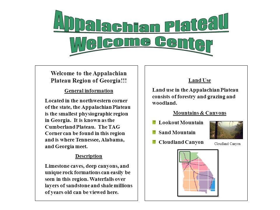 Welcome to the Appalachian Plateau Region of Georgia!!!