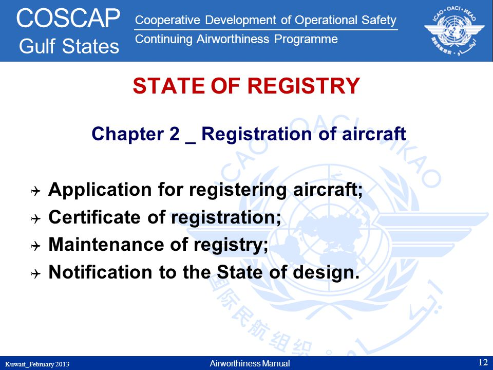 Chapter 2 _ Registration of aircraft
