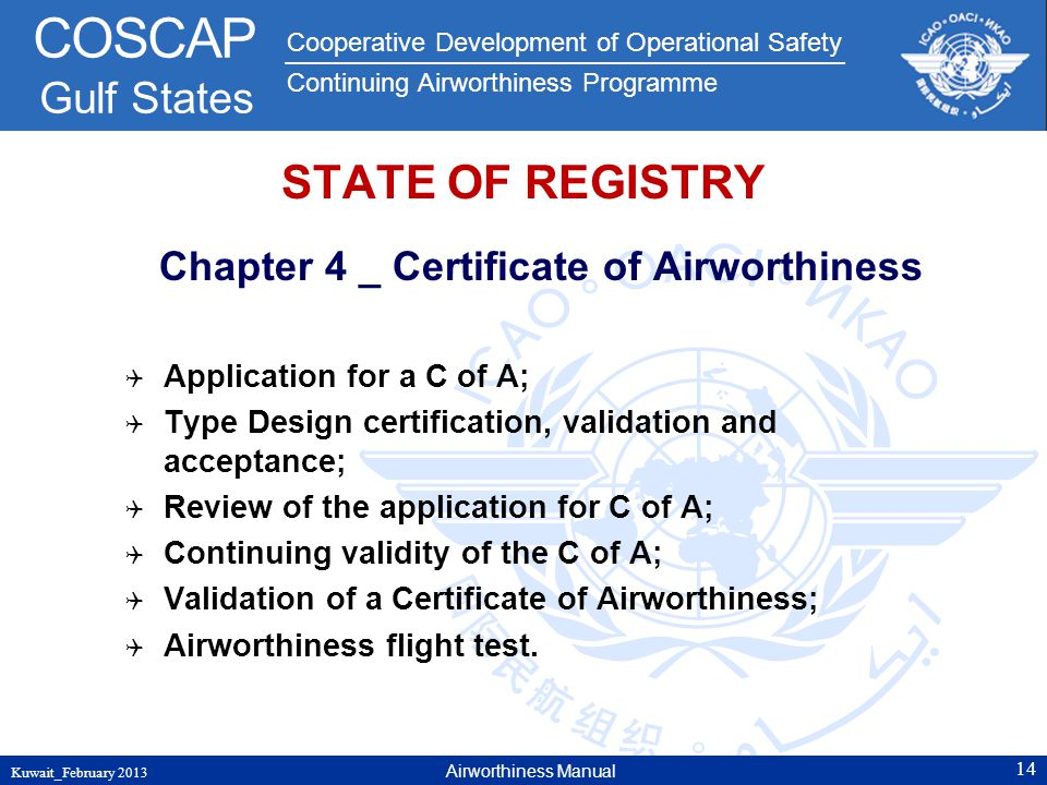 Chapter 4 _ Certificate of Airworthiness