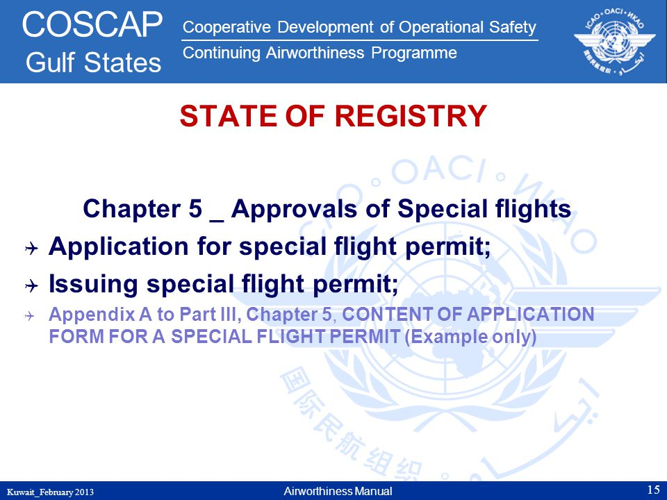 Chapter 5 _ Approvals of Special flights