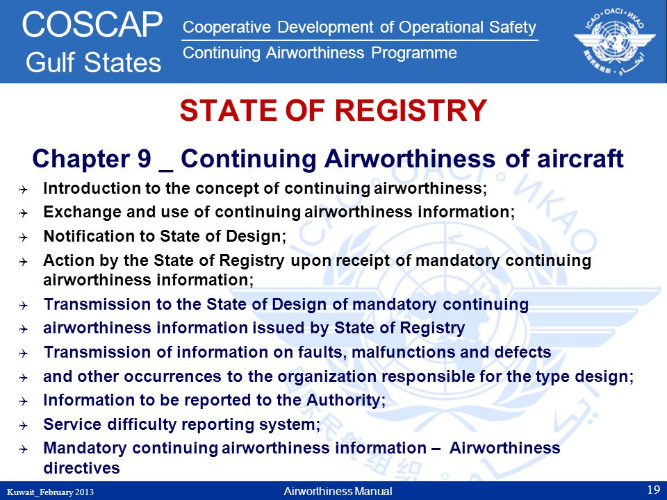Chapter 9 _ Continuing Airworthiness of aircraft