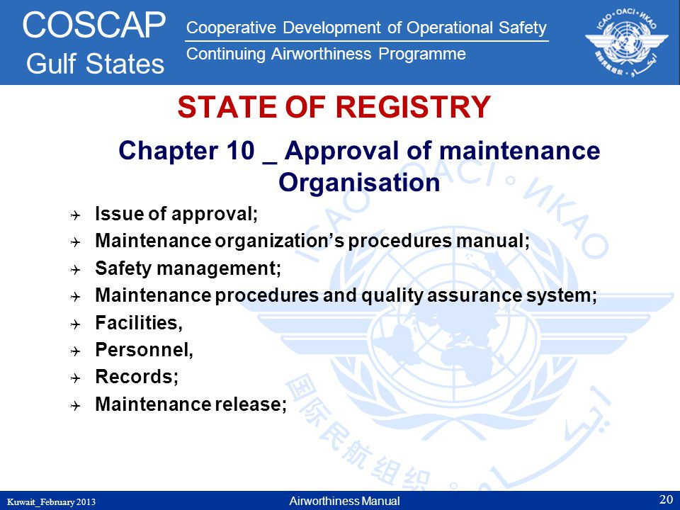 Chapter 10 _ Approval of maintenance Organisation