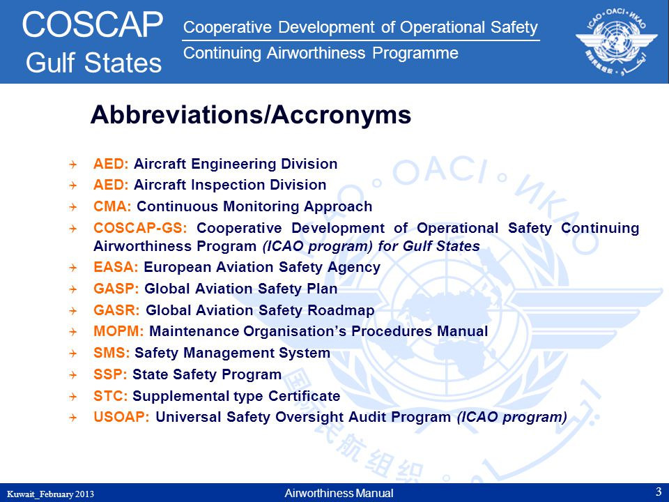 Abbreviations/Accronyms
