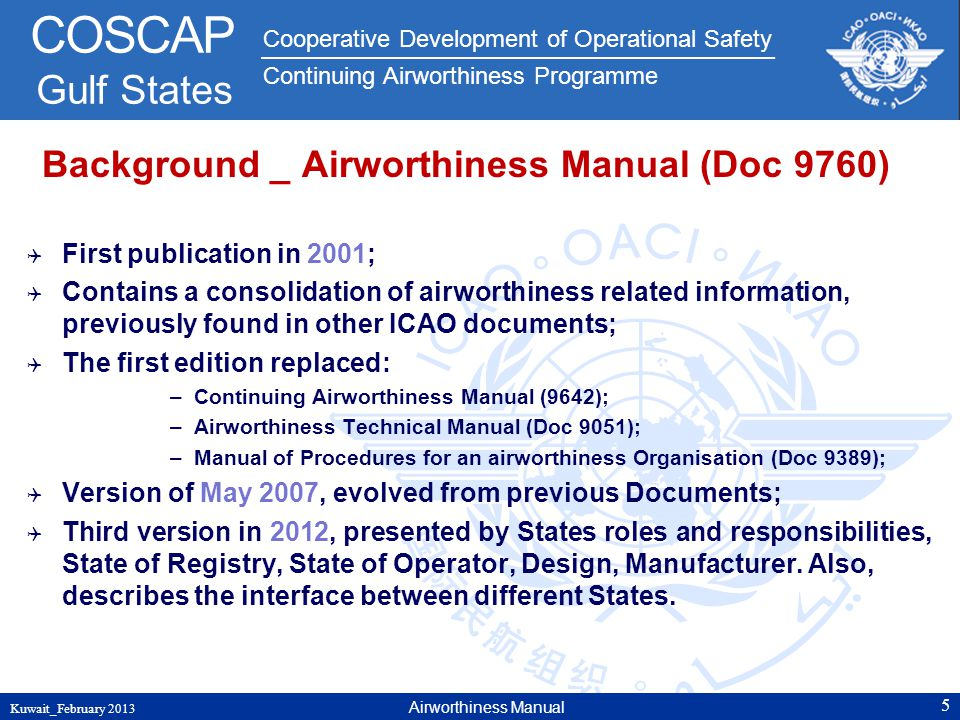 Background _ Airworthiness Manual (Doc 9760)