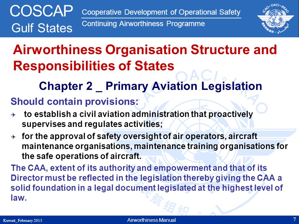 Airworthiness Organisation Structure and Responsibilities of States