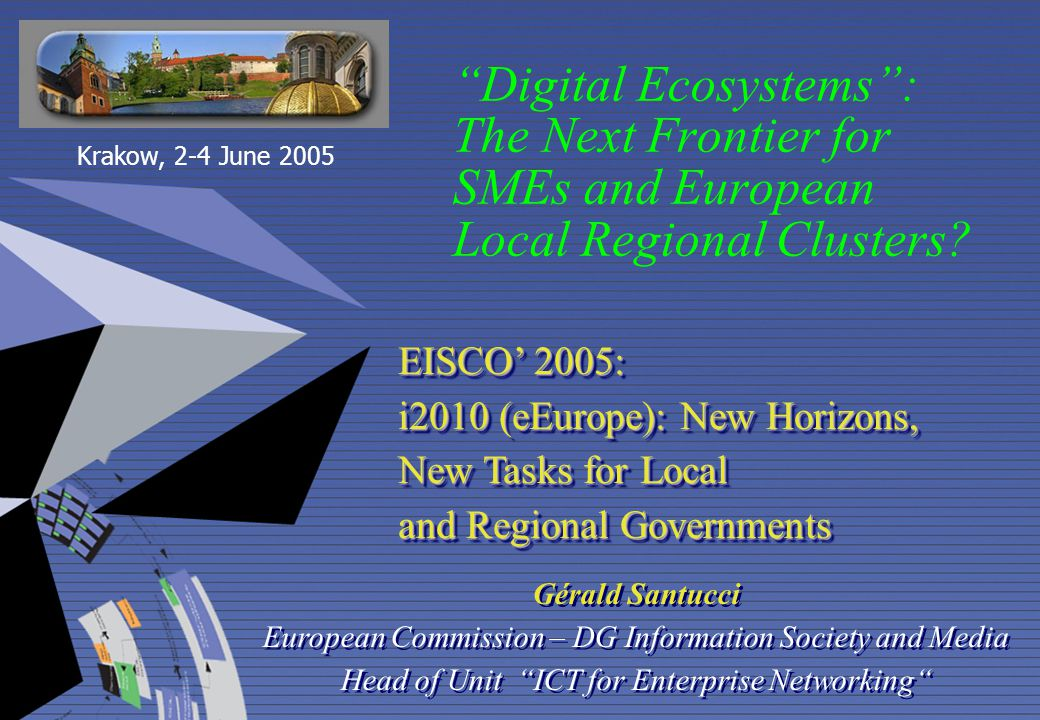 Digital Ecosystems : The Next Frontier for SMEs and European Local Regional Clusters