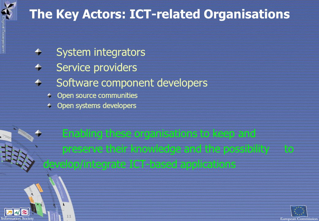 The Key Actors: ICT-related Organisations