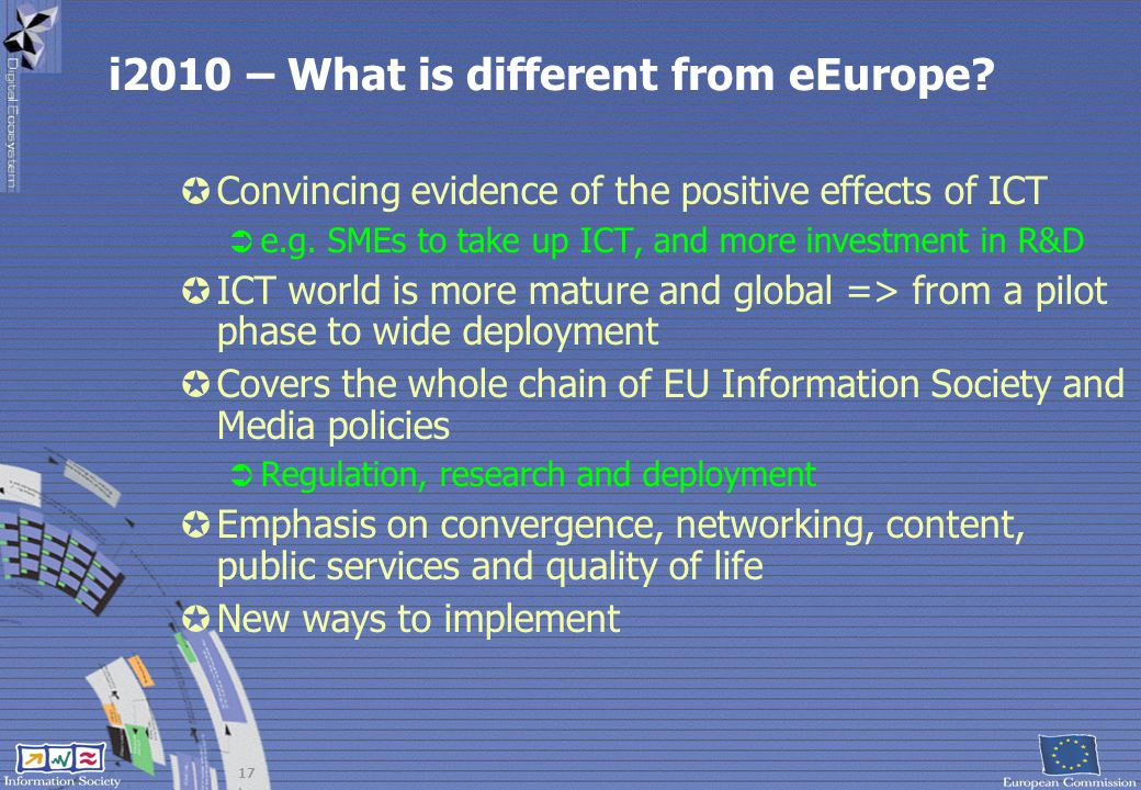 i2010 – What is different from eEurope