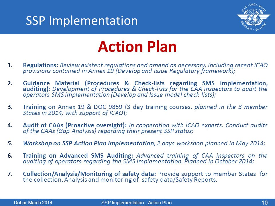 Action Plan SSP Implementation