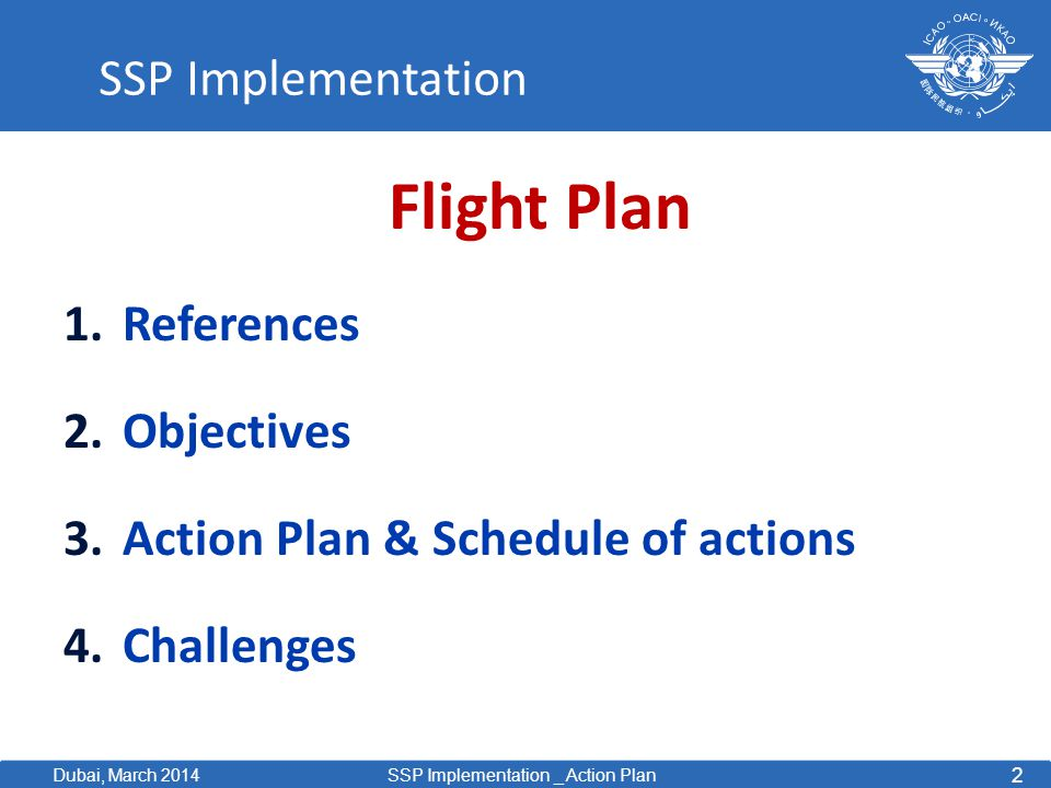 Action Plan & Schedule of actions Challenges