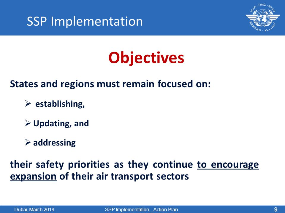 Objectives SSP Implementation