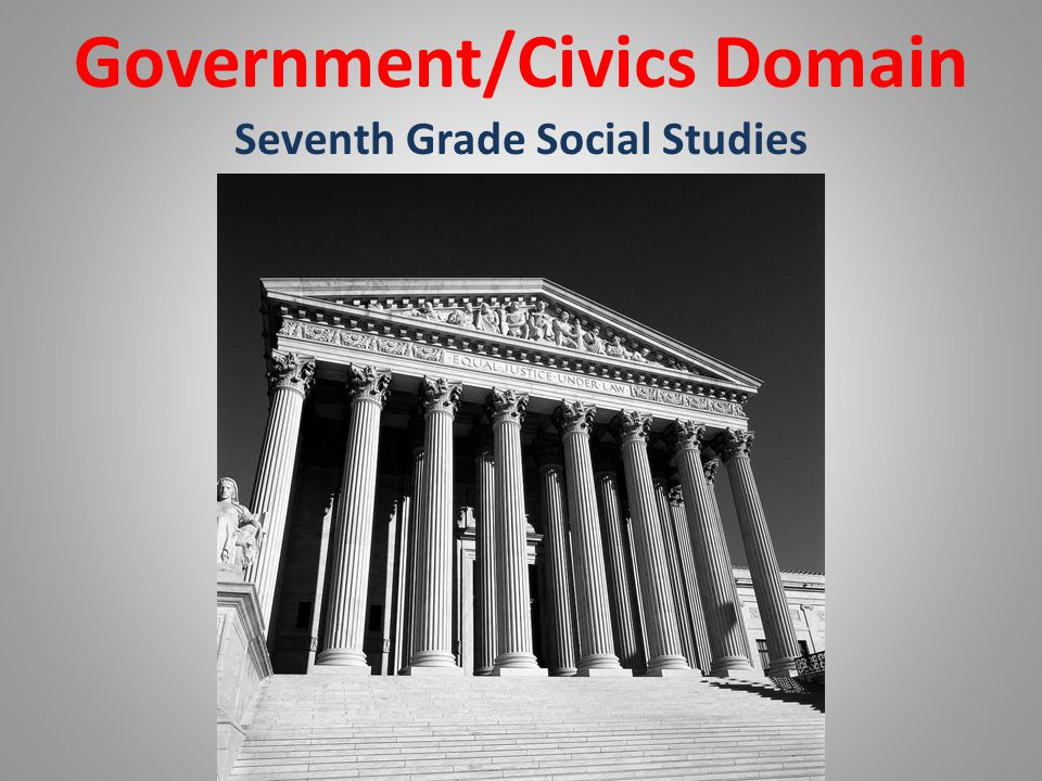 Government/Civics Domain Seventh Grade Social Studies