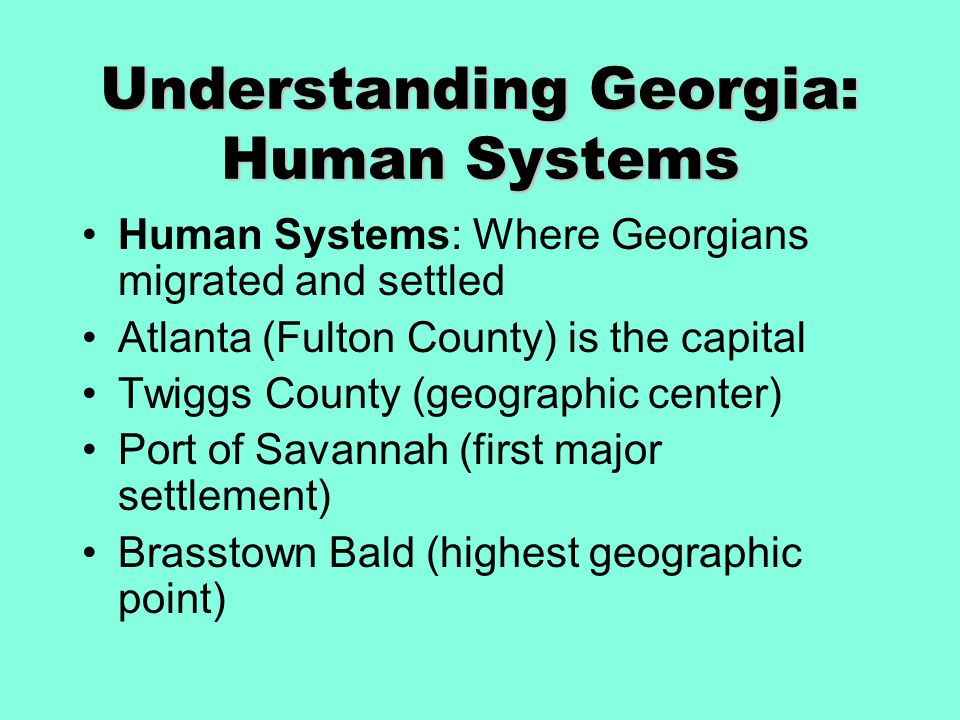 Understanding Georgia: Human Systems