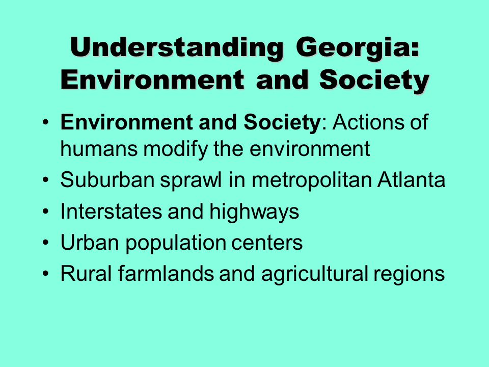 Understanding Georgia: Environment and Society