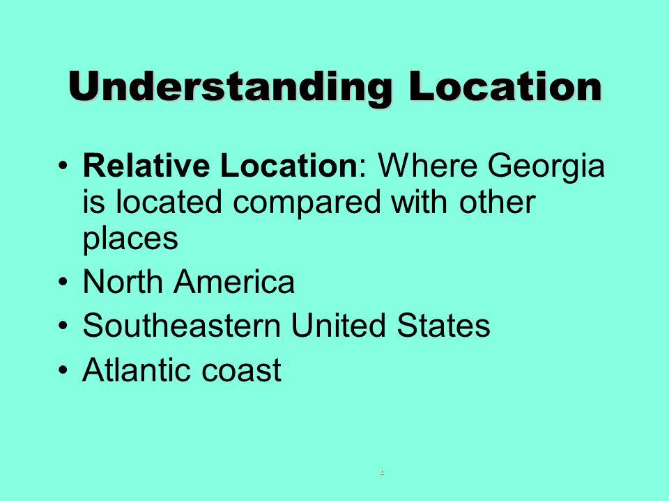 Understanding Location