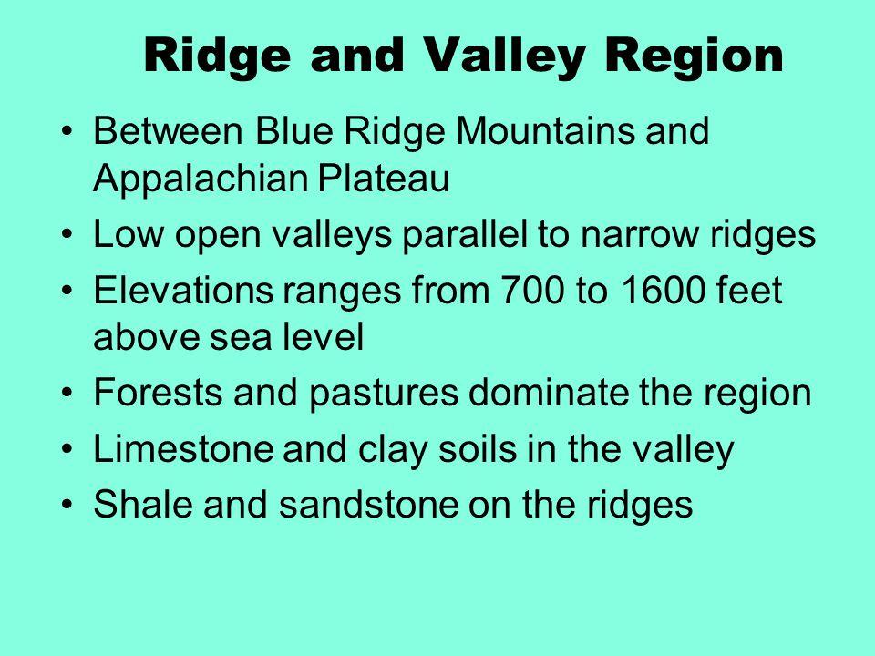 Ridge and Valley Region