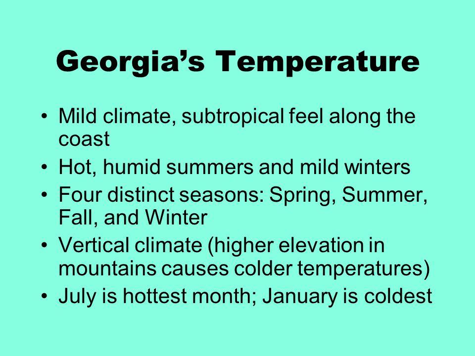 Georgia's Temperature