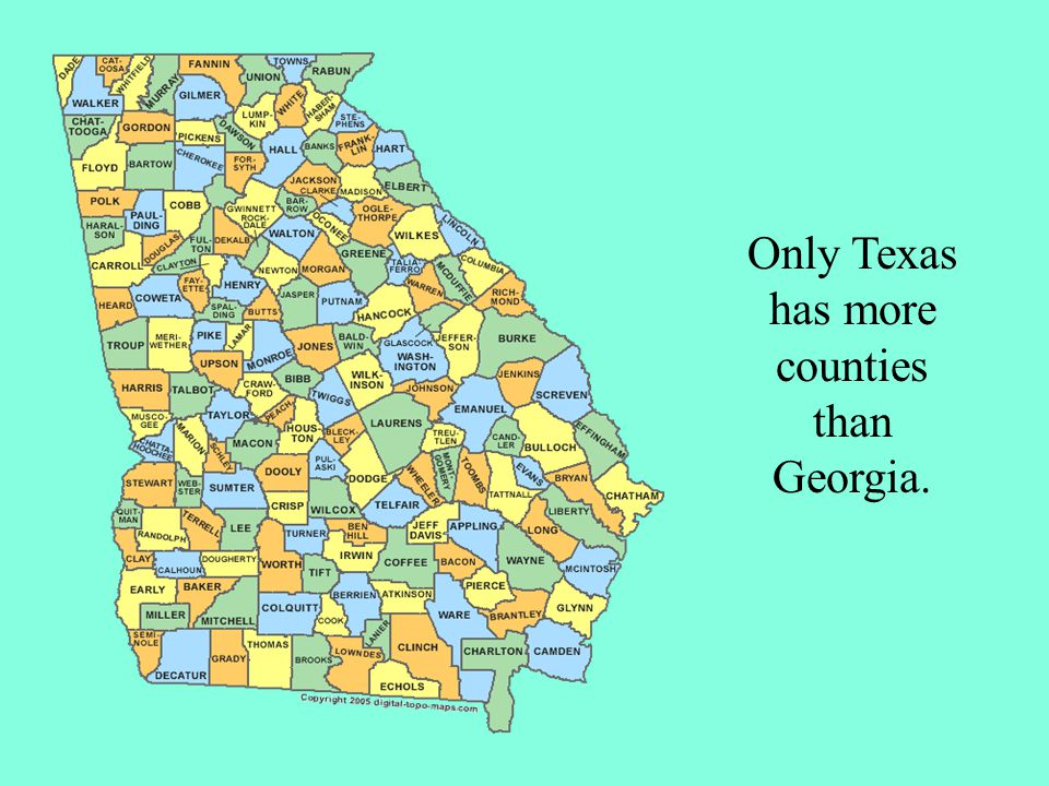Only Texas has more counties than Georgia.