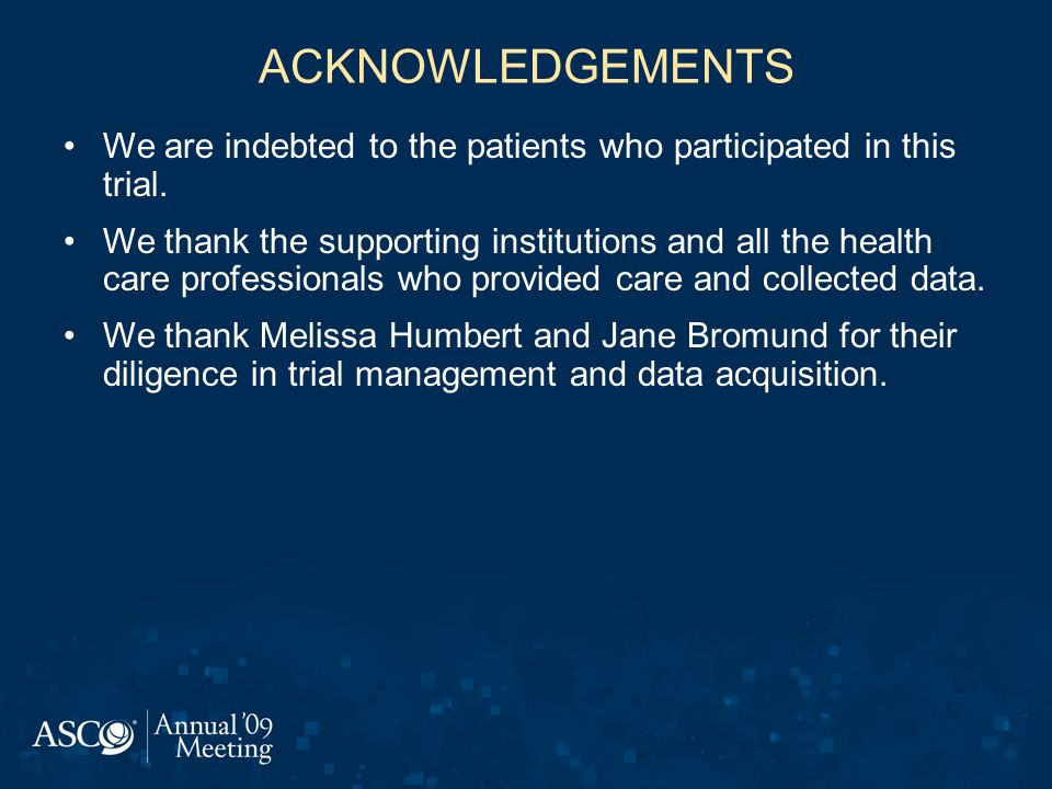 ACKNOWLEDGEMENTS We are indebted to the patients who participated in this trial.